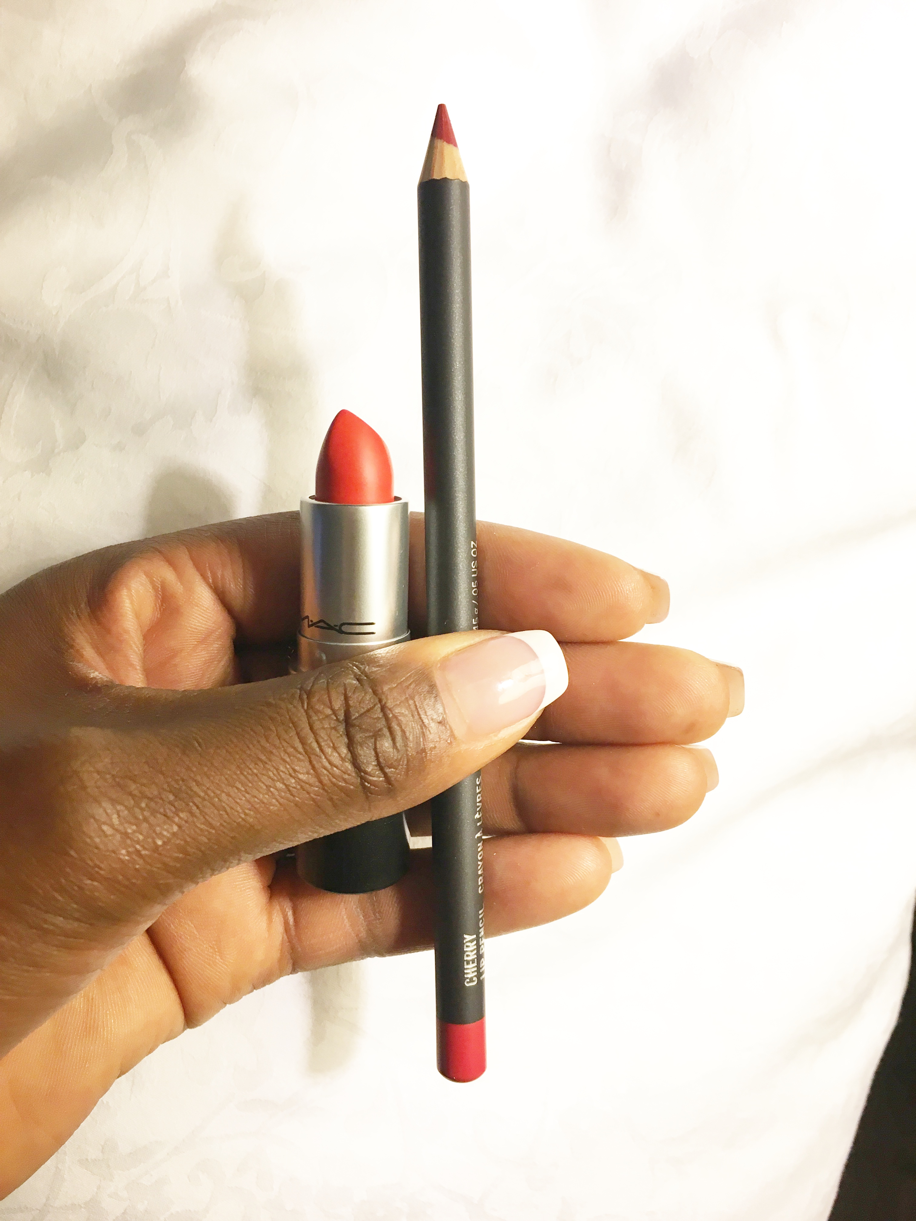 Lady danger Mac lipstick| Cherry Mac lipliner