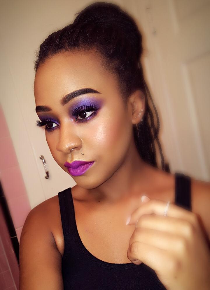 Purple eye-shadow makeup