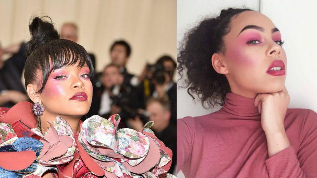 Rihanna inspired makeup